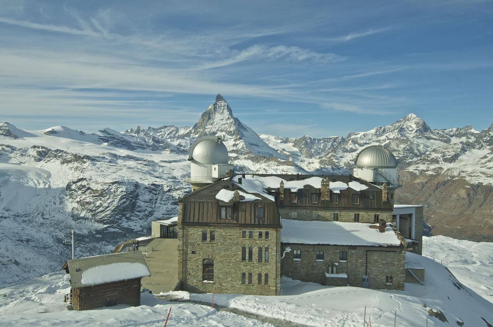 Gornergrat 3089m ü M mit dem Matterhorn