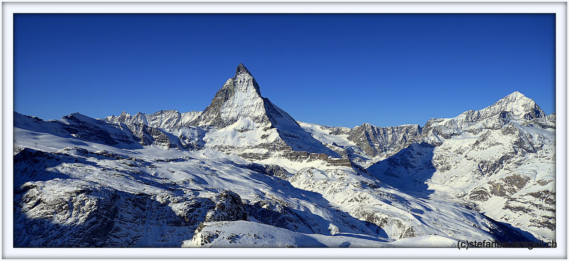"""""""Gornergrat-Sicht zum Matterhorn."""""""
