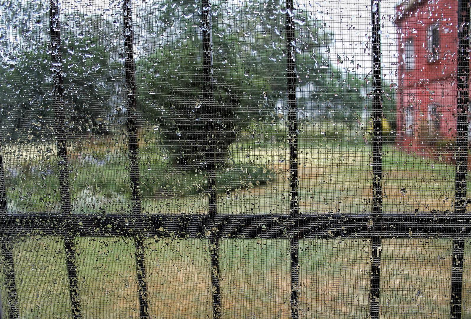 Gotas de lluvia en mi ventana