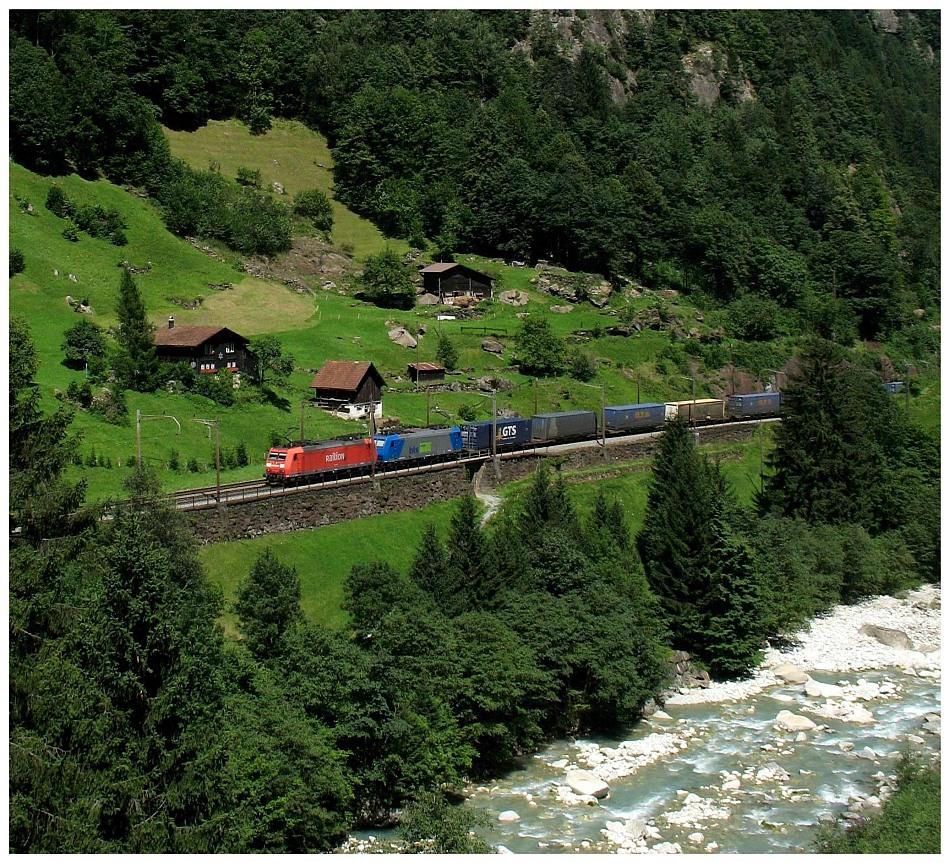 Gotthardbahn bei Gurtnellen