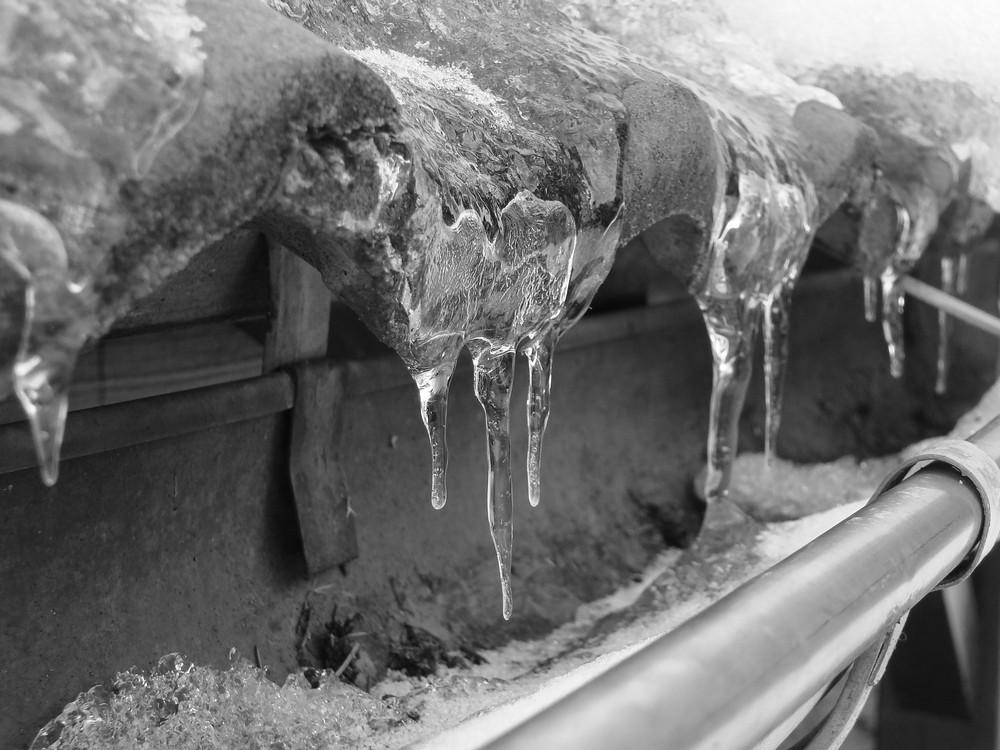 Gouttière gelée