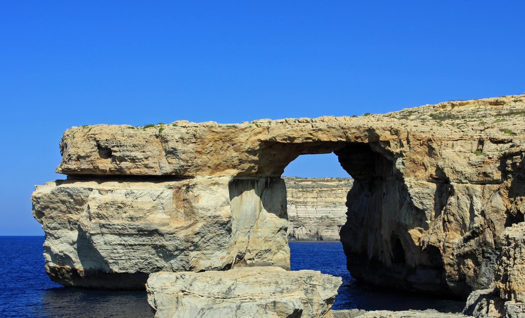 Gozo, Küstendurchblick