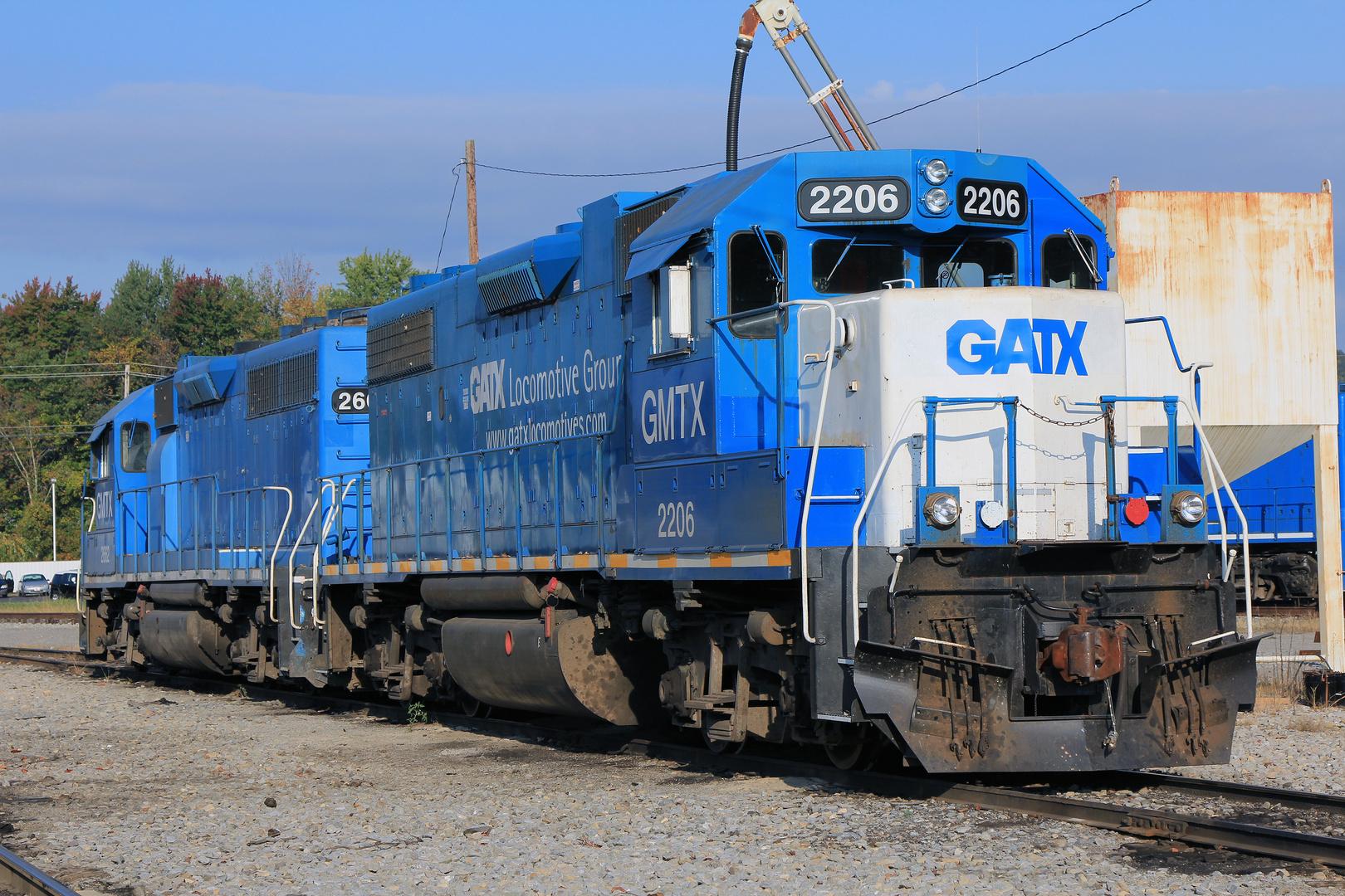 GP38-2 GMTX#2206, Yard der A&O RR in Buckhannon, WV