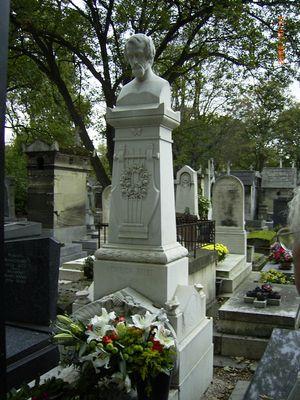 Grab von Heinrich Heine mit Gedicht