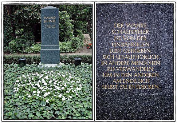 Grabstätte und Inschrift