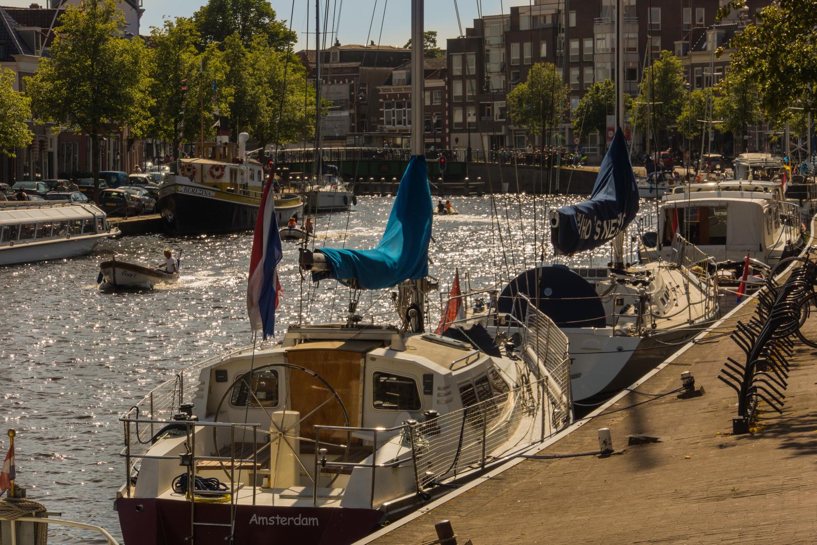 Grachtenansicht III - Haarlem/Niederlande