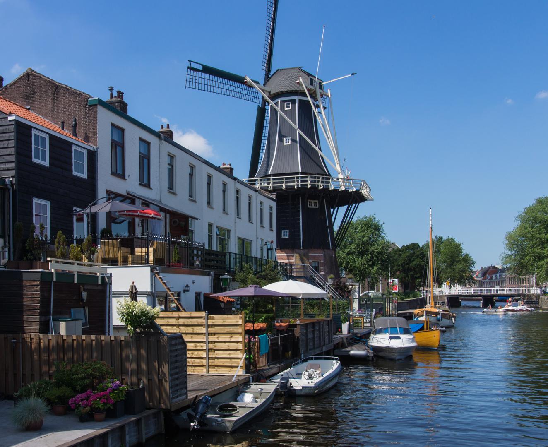 Grachtenansicht IV - Haarlem/Niederlande