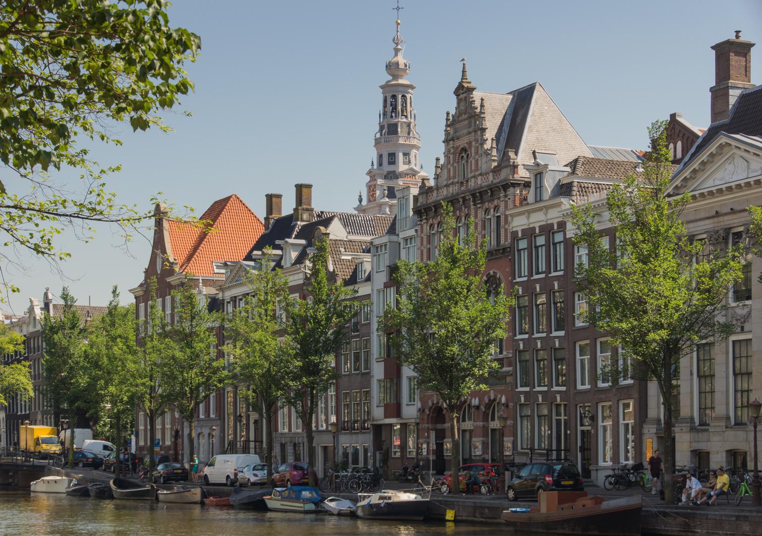 Grachtenansicht mit Zuiderkerk II - Amsterdam