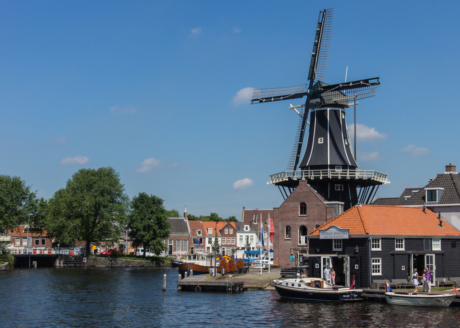 Grachtenansicht V - Haarlem/Niederlande