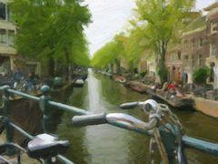 Grachtenbild in de Jordaan (Amsterdam)