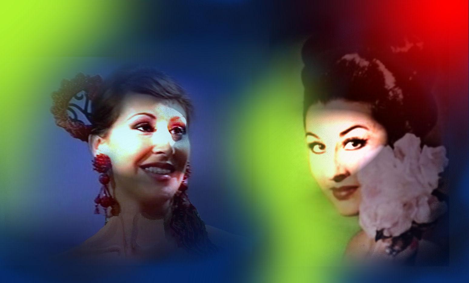 Gracia Montes y Sandra Cabrera.spanish singers.