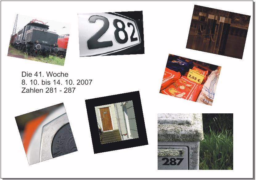 Graf-Zahl-Projekt 2007 - 41. Woche