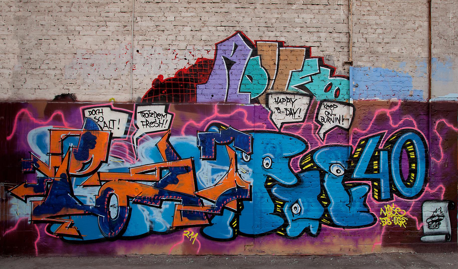 Graffiti AllesGute zum 40. Geburtstag