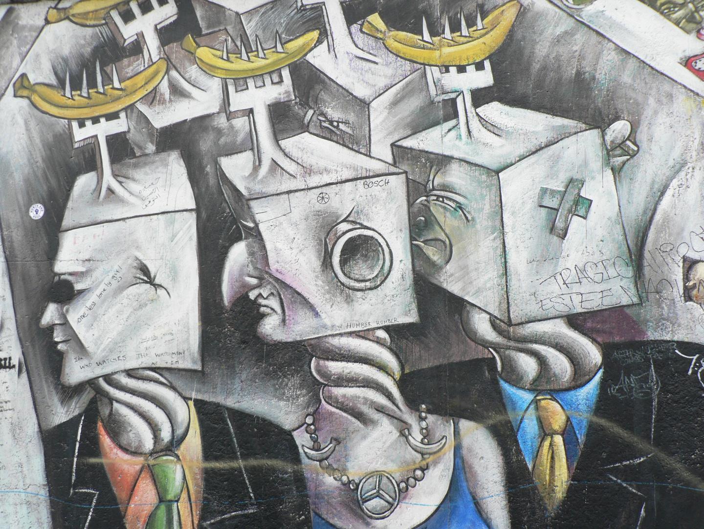 Graffiti at the Berlin Wall Museum