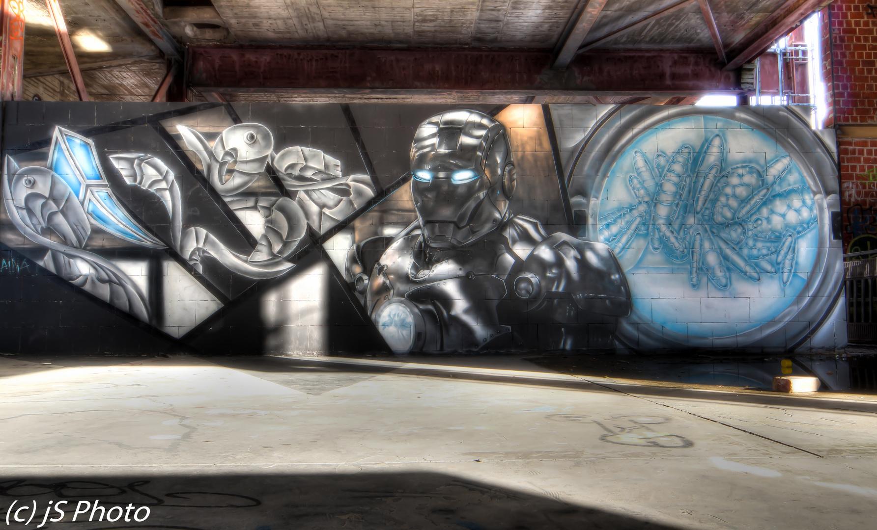 Graffiti auf dem Teufelsberg Berlin