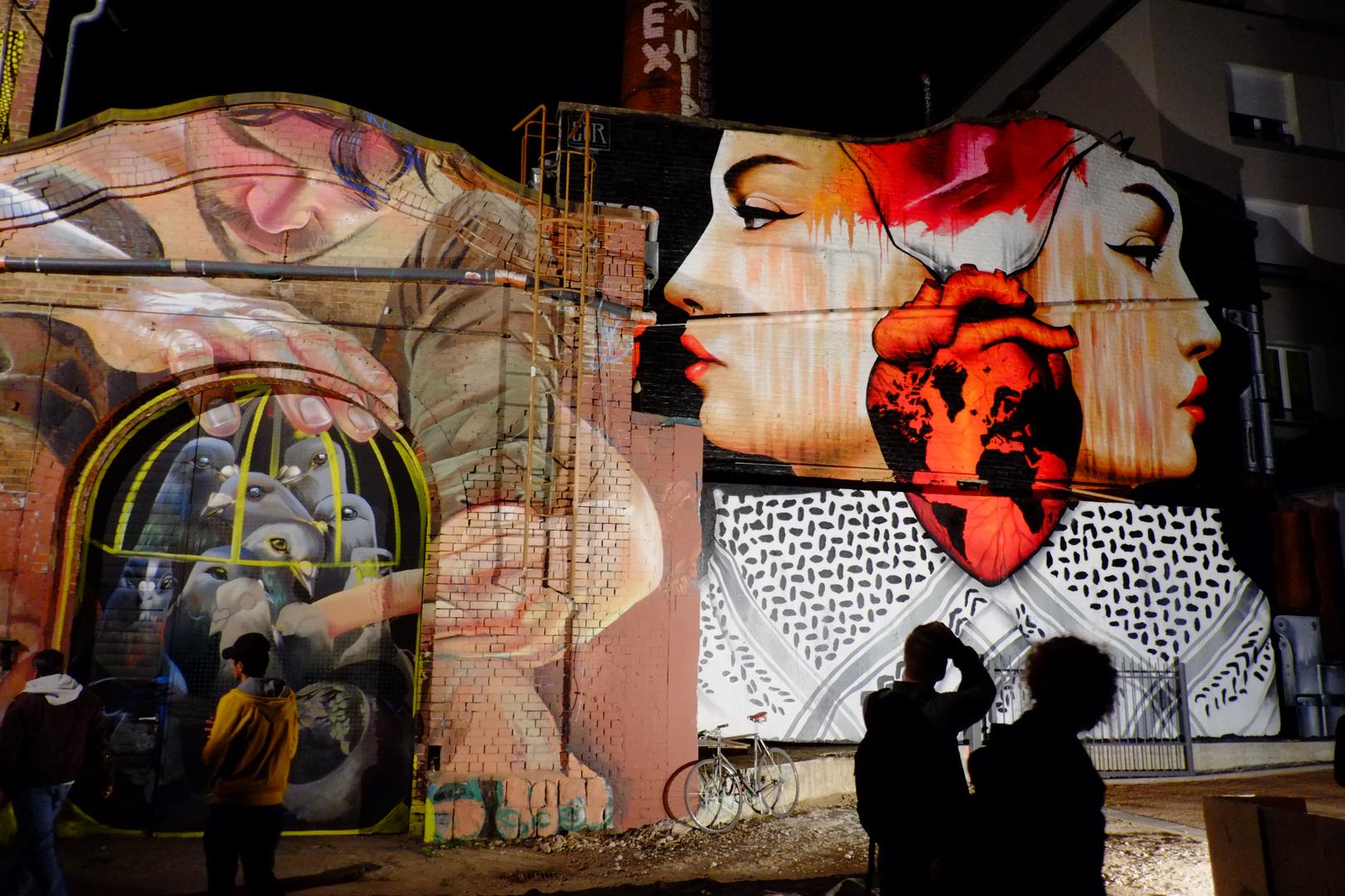 Graffiti auf der Luminale 2014