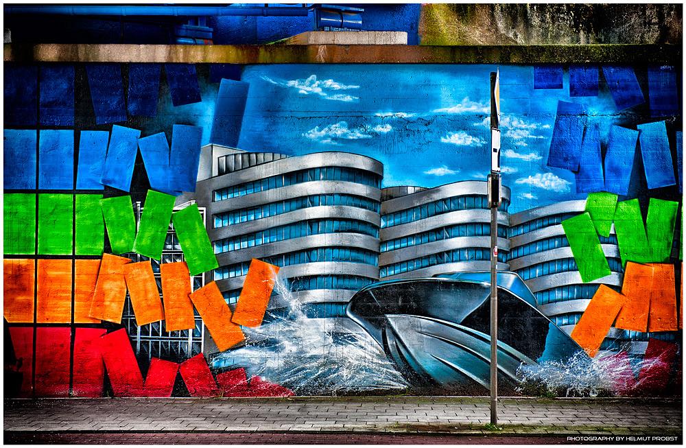 Graffiti Five Boats