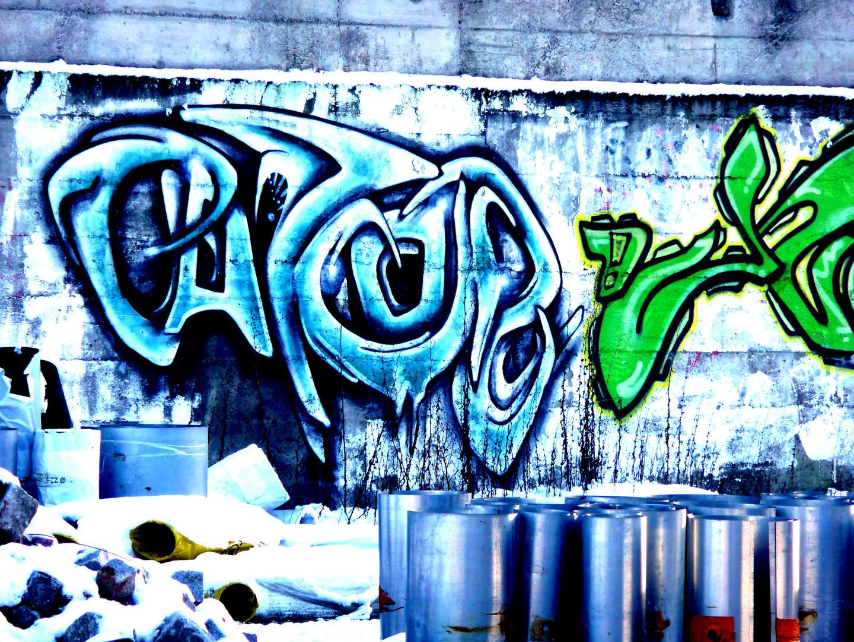 Graffiti im Hinterhof