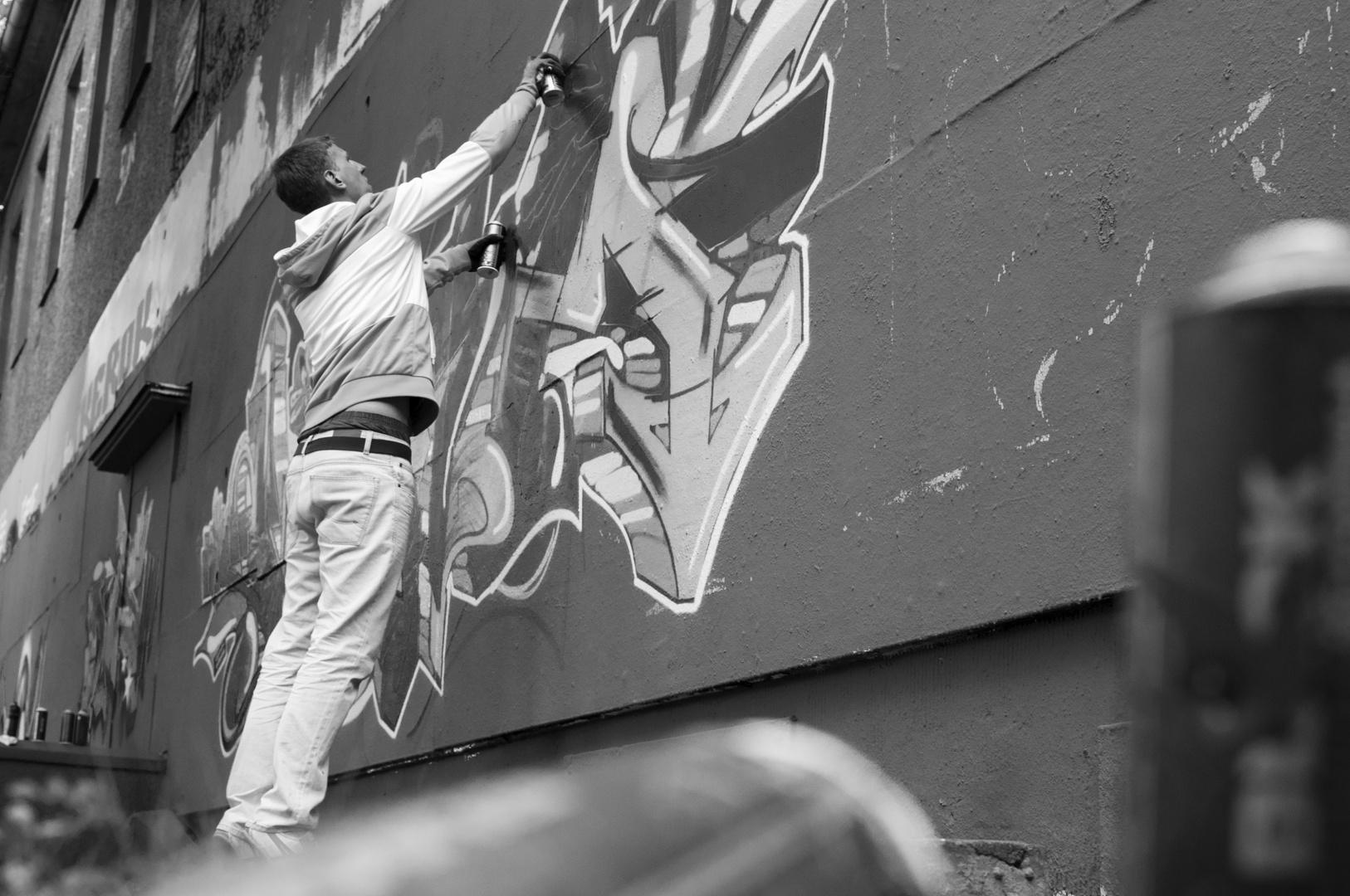 Graffiti in Aktion