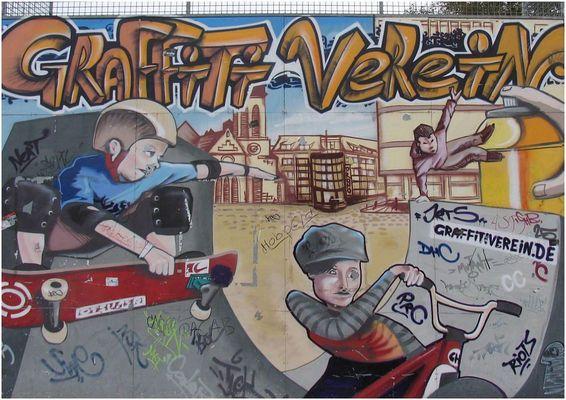 Graffiti ist Kontrast-Malerei - also viele Kontraste