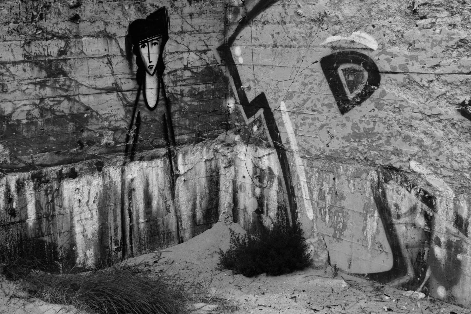 Graffiti macht graue Wände lebendig