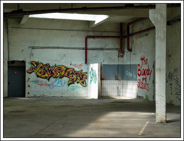 Graffiti mit Lichtstimmung