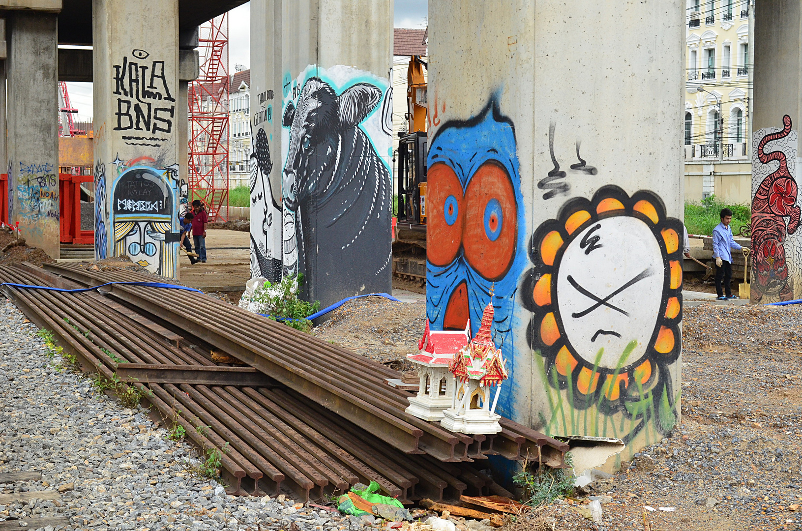 Graffiti und Geisterhaus