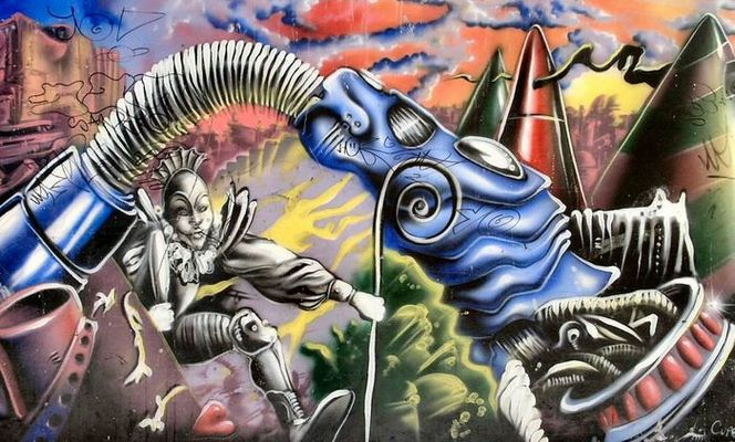 Graffito im Gargano
