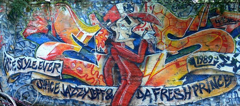 "Graffitty in Hinterhof der ""Roten Flora"""