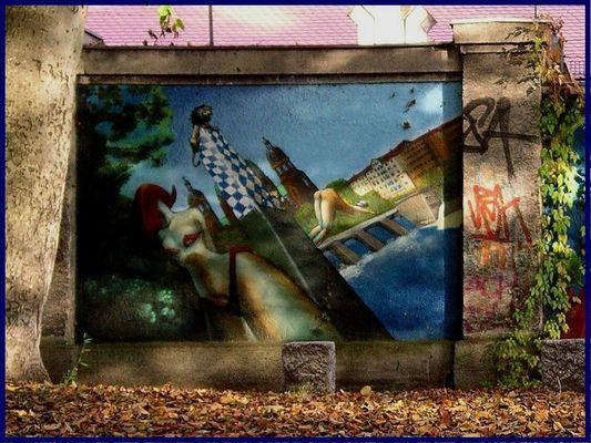 Grafitti an der Isar München