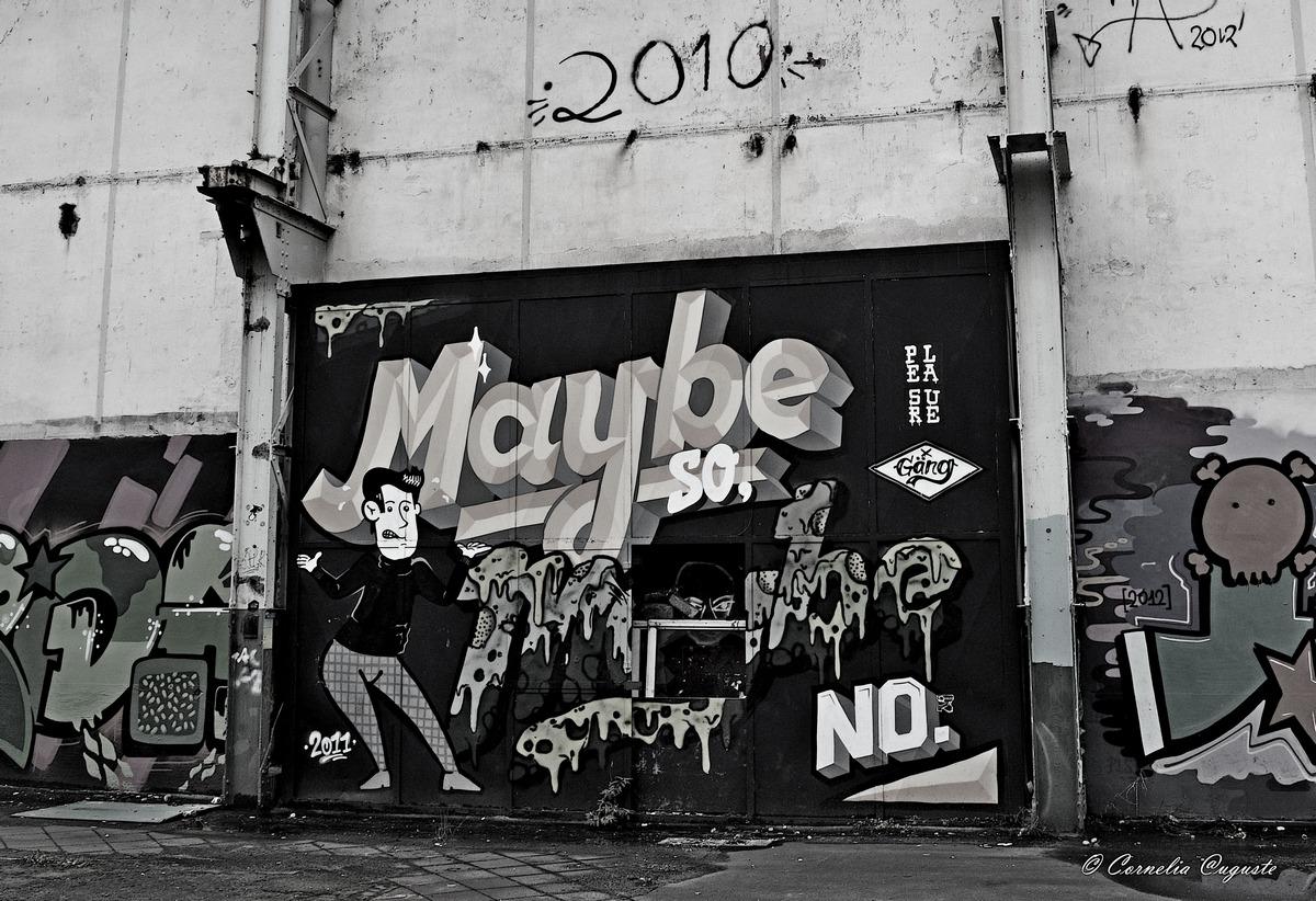 Grafitti an der Wand...