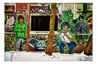Grafitti im Lokschuppen