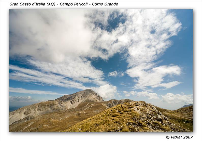 Gran Sasso d'Italia (AQ) - Campo Pericoli - veduta del Corno Grande