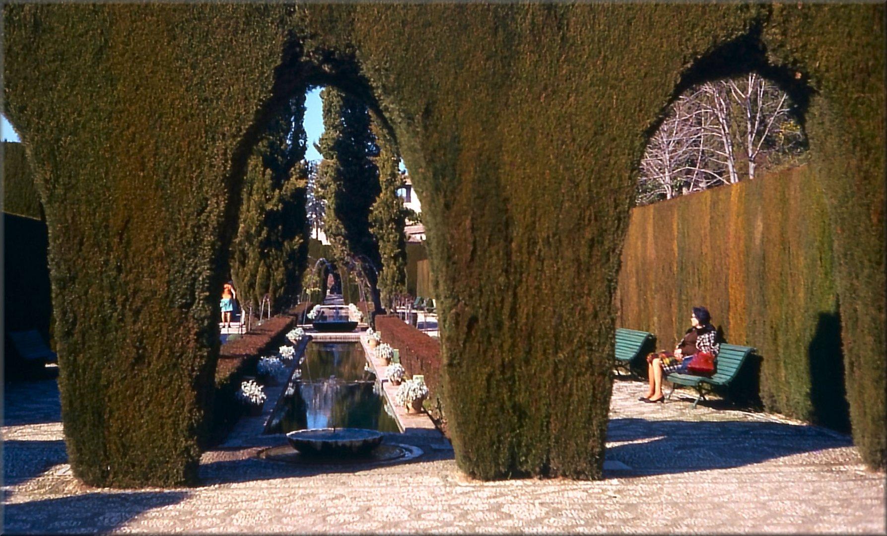 Granada. Alhambra gardens.