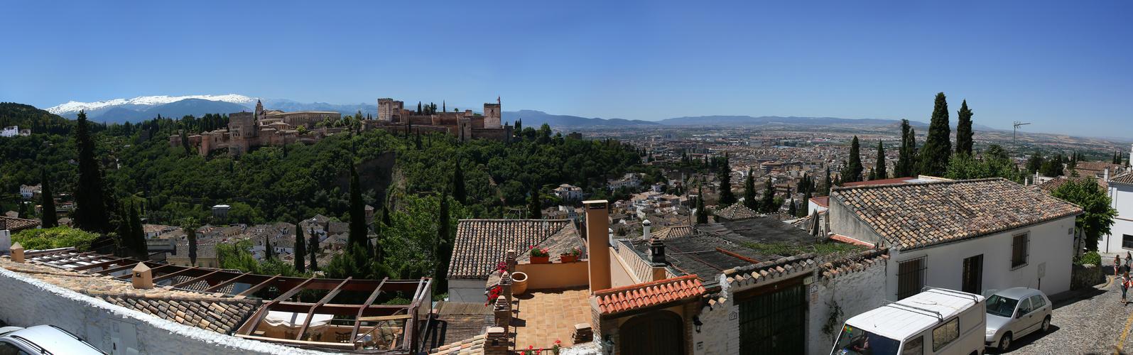 Granada Panorama mit Alhambra