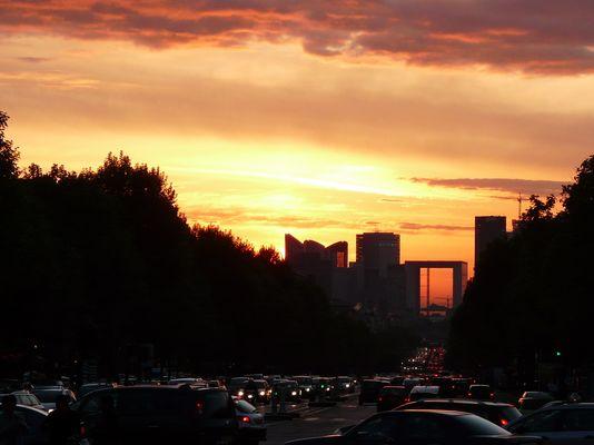 Grand Arch im Sonnenuntergang