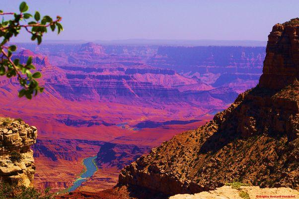 Grand Canyon avec dans le creux, la rivière Colorado....
