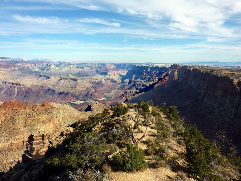 grand canyon avec le Colorado au fonds