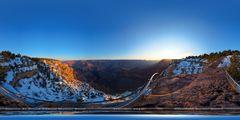 Grand Canyon Sonnenaufgang II - 360° Panorama