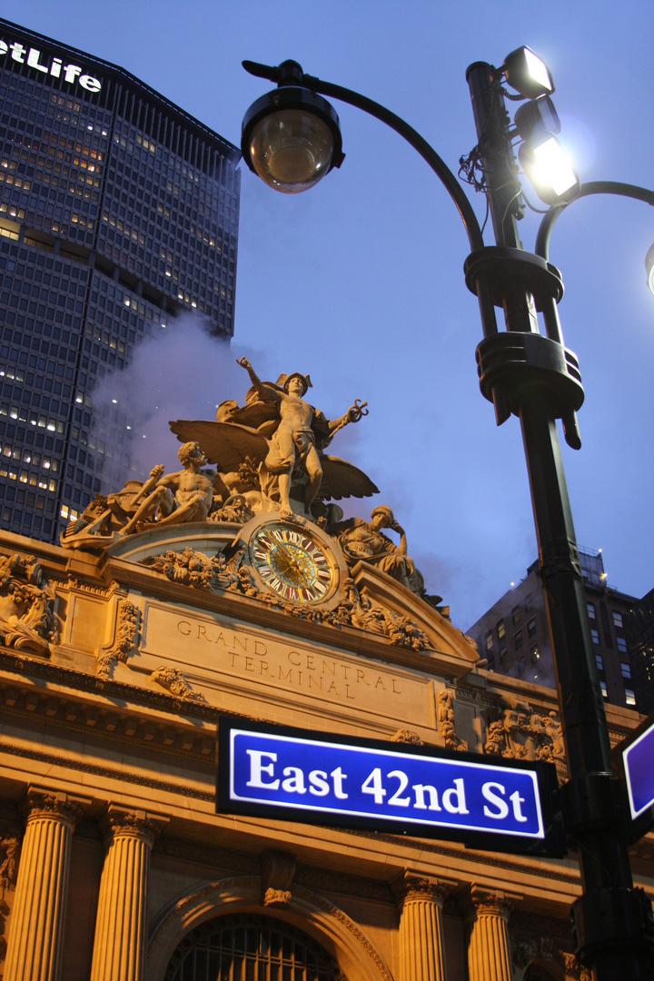 Grand Central Terminal by night