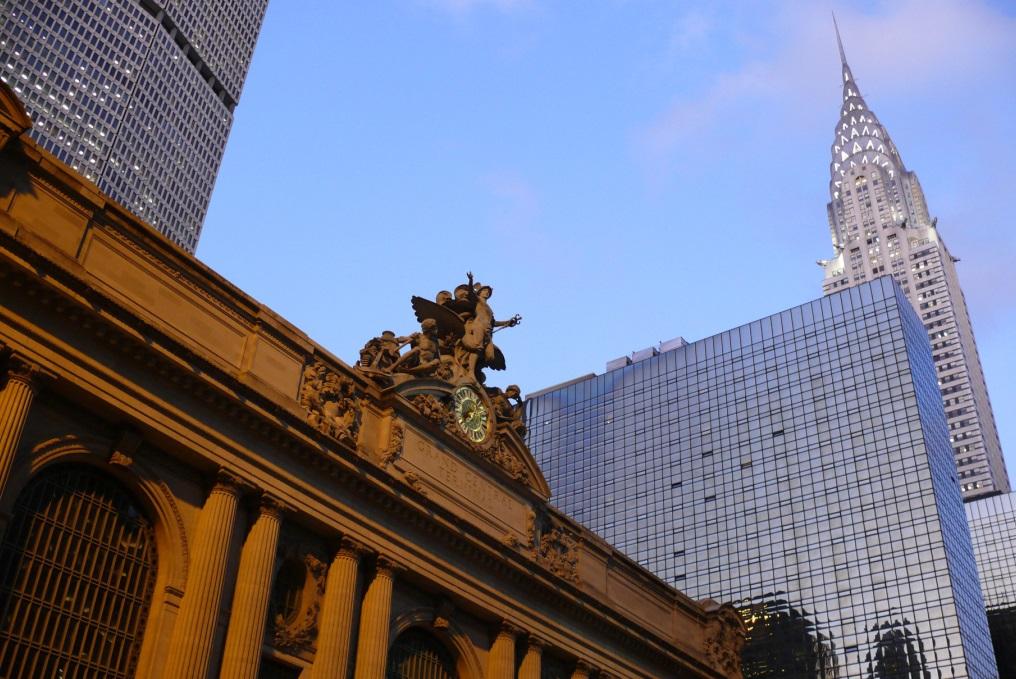Grand Central Terminal und das Chrysler Building