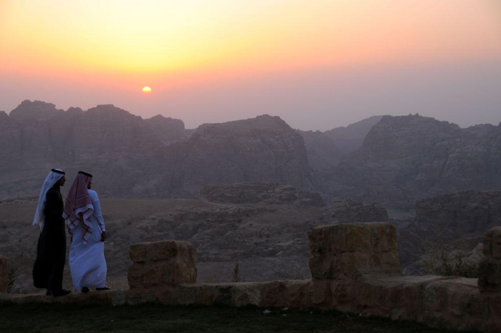 """""""Grand"""" coucher de soleil sur Petra..."""