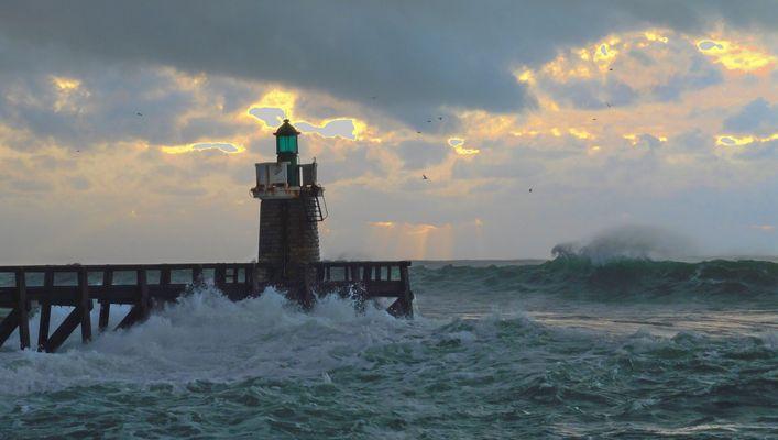 Grande marée de janvier à Capbreton