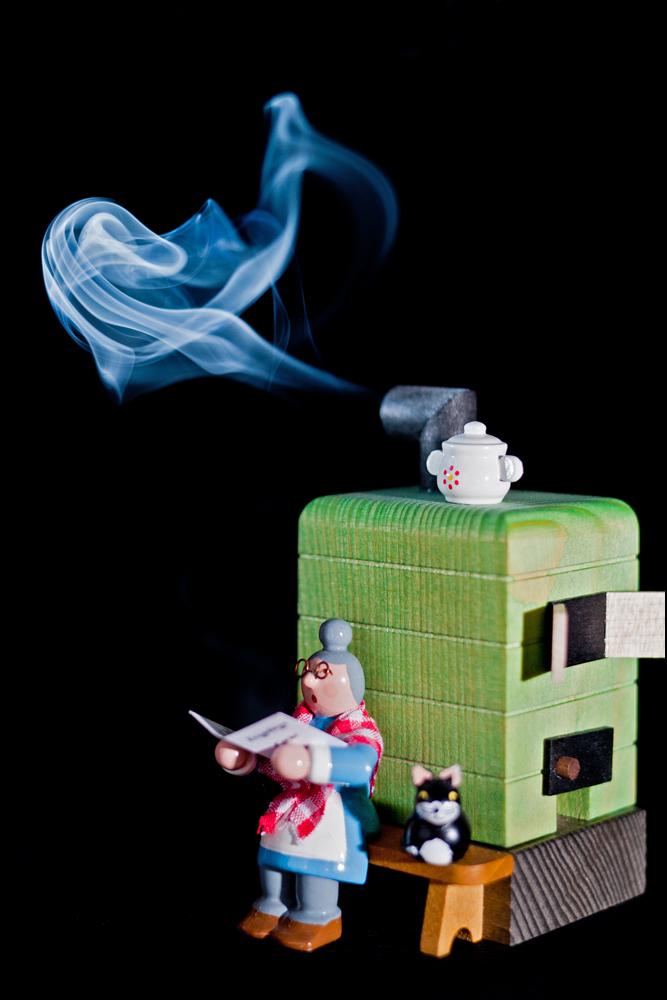 Grandma's smokin' chimney