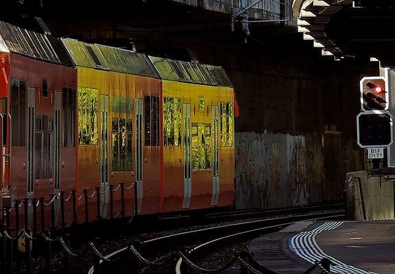 Graphische Spielerei an der S Bahn