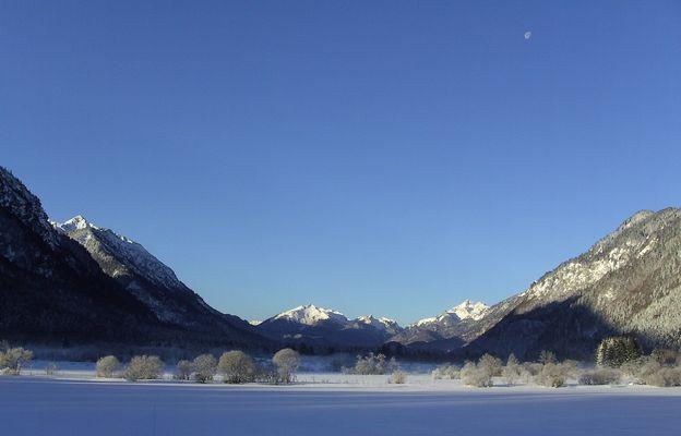 Graswangtal im Winter