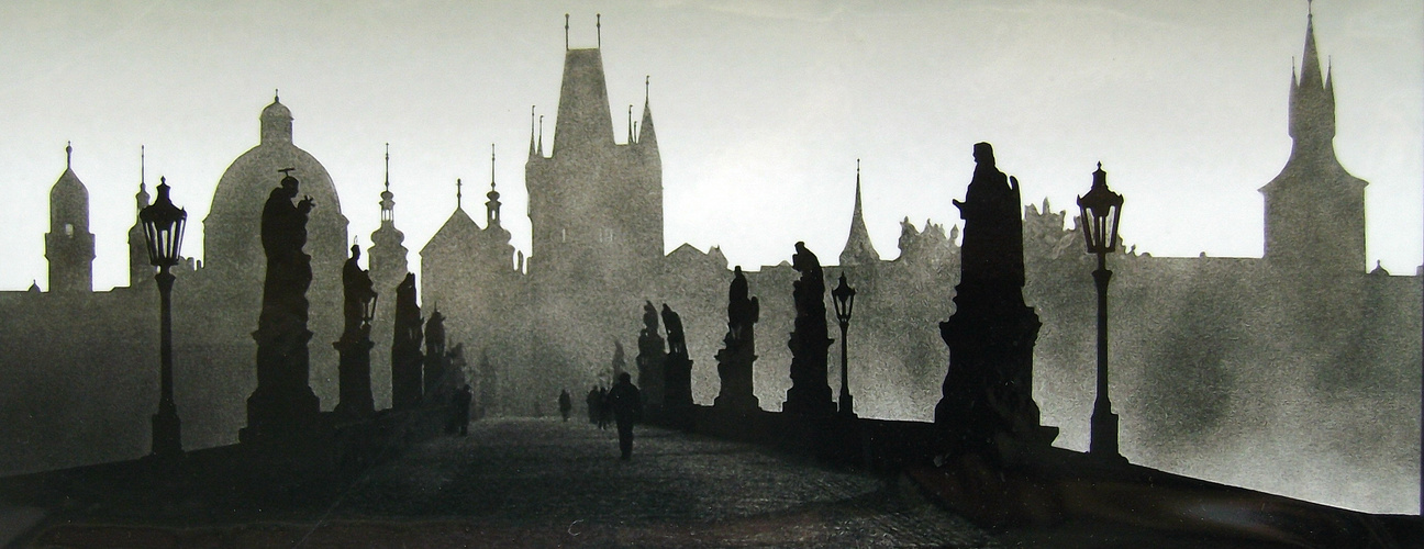 Grau des Morgens in Prag (Karlsbrücke)