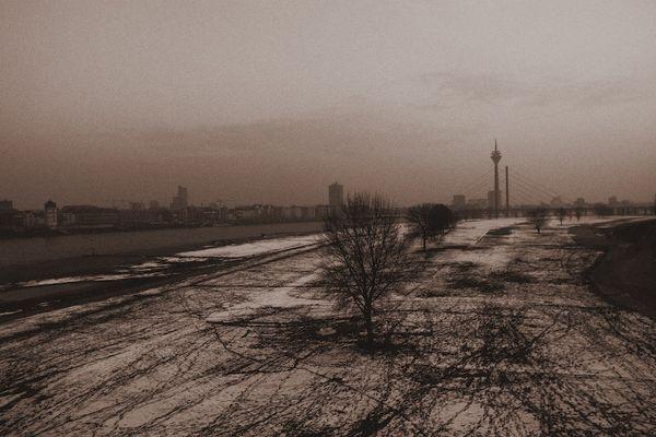 Grauer Winter in Düsseldorf