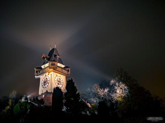 Graz - Foggy Clocktower