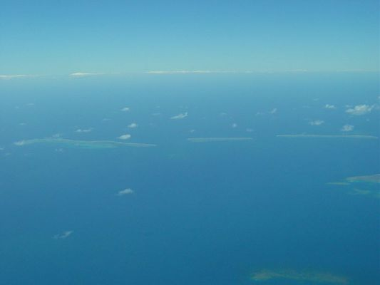Great Barrier Reef aus Flugzeug